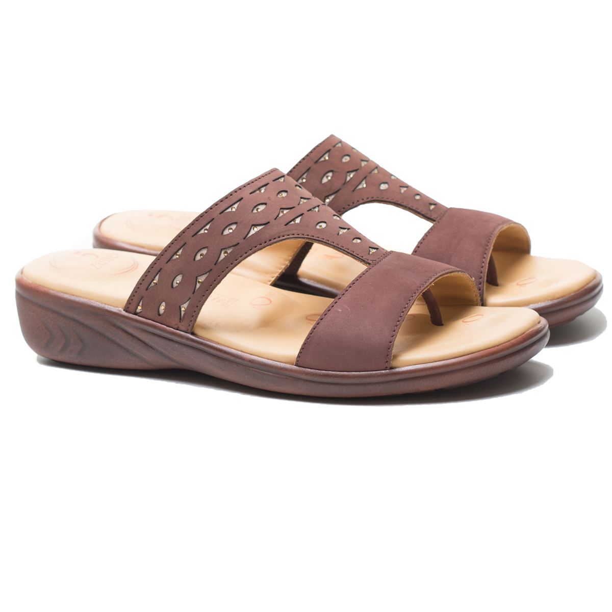 Buy Von Wellx Thea Comfort Brown Slippers Online in Ahmedabad