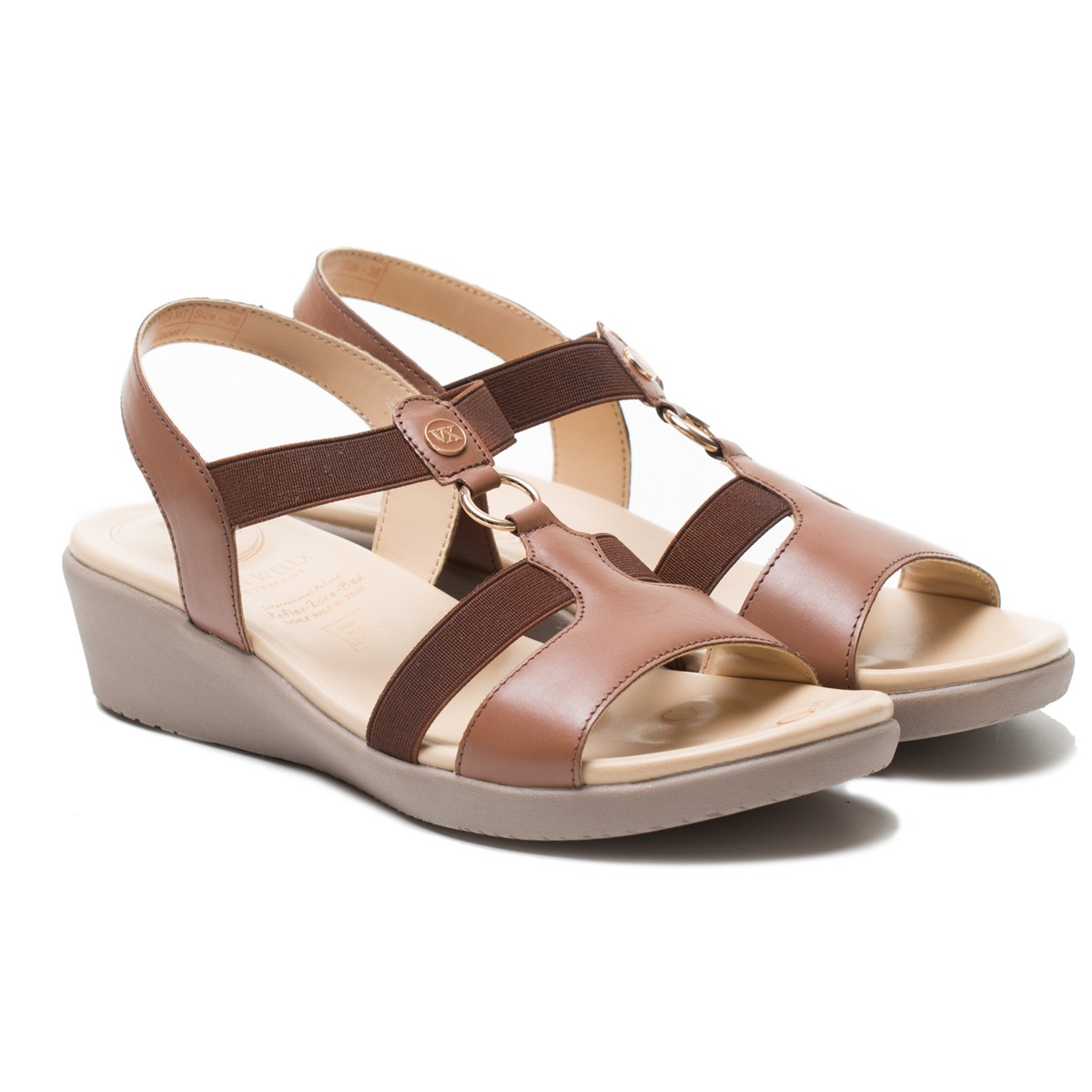 Buy Von Wellx Amos Comfort Tan Sandals Online in West Bengal