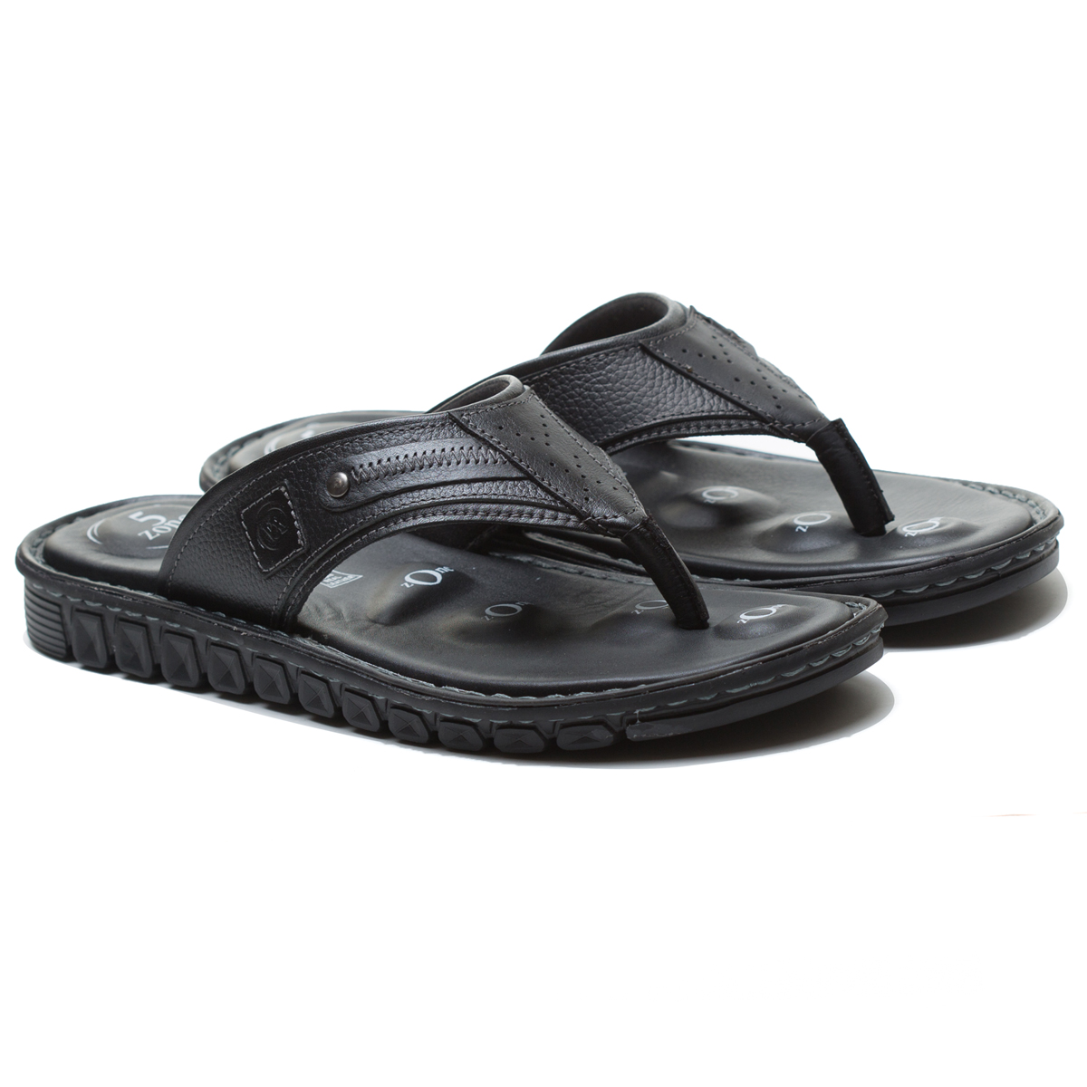 Buy Von Wellx Elmer Comfort Black Slippers Online in Meerut