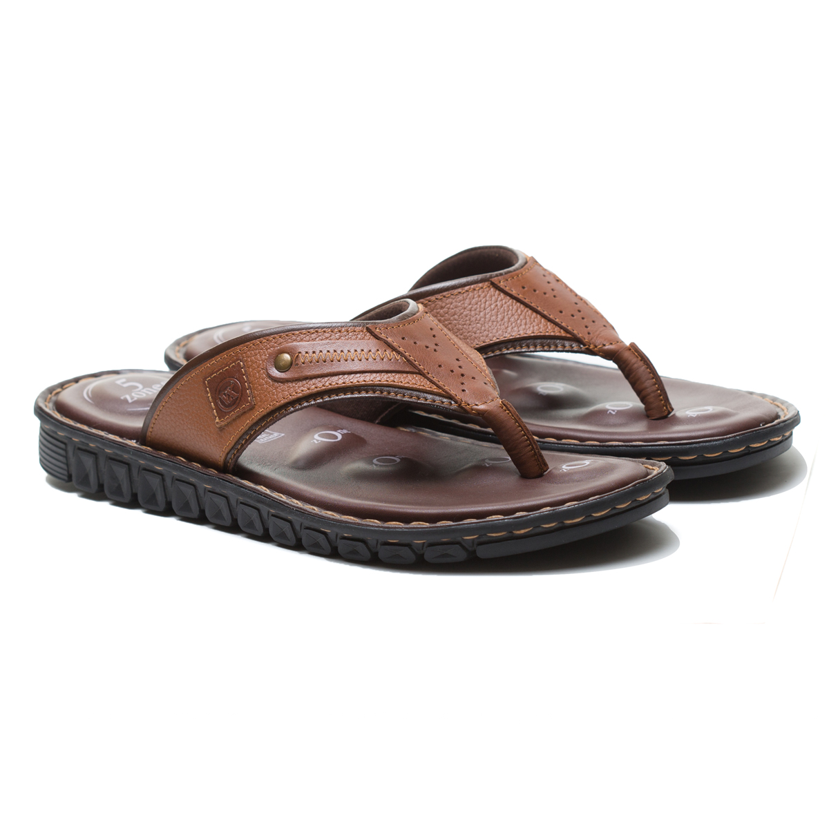 Buy Von Wellx Elmer Comfort Tan Slippers Online in Mumbai
