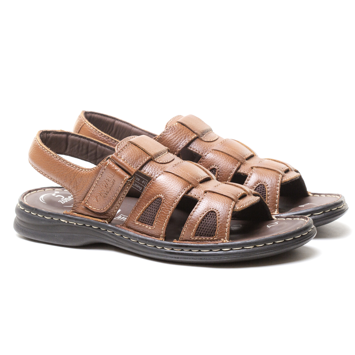 Buy Von Wellx Germany Comfort Rhys Tan Sandals Online in Bangalore