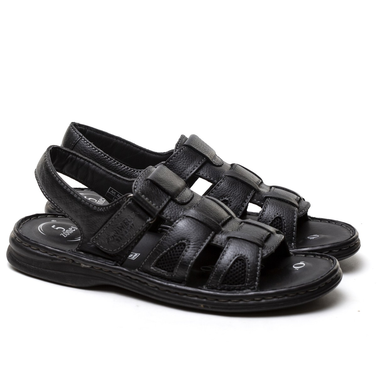 Buy Von Wellx Germany Comfort Rhys Black Sandals Online in Maharashtra
