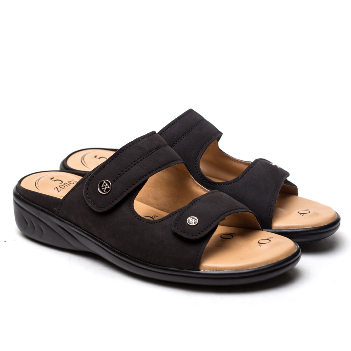 Buy VON WELLX GERMANY COMFORT ZORA BLACK SLIDES In Delhi