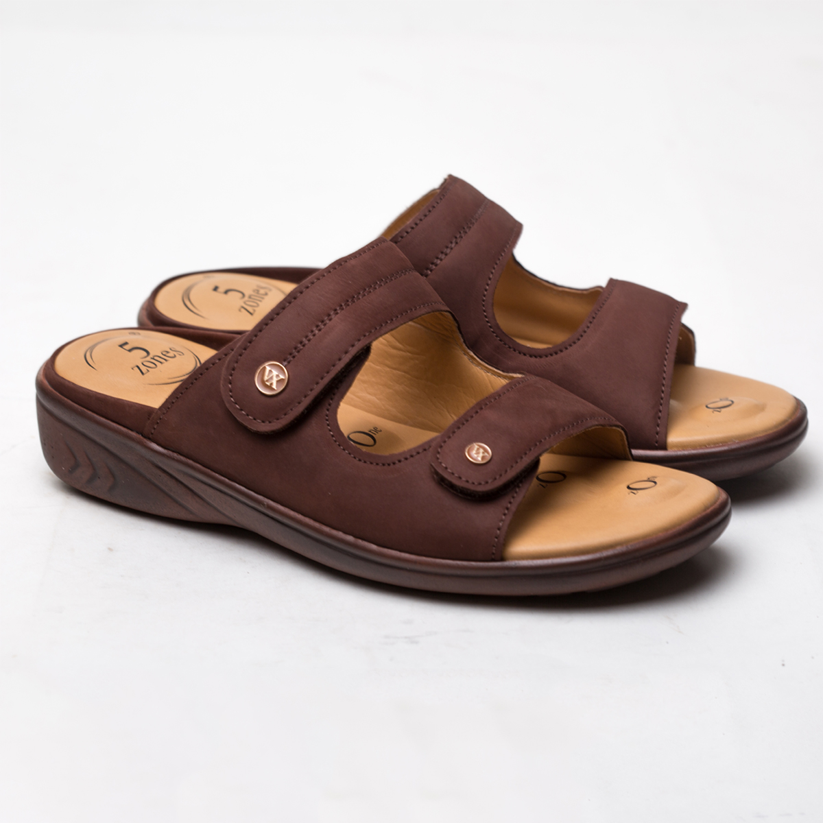Buy VON WELLX GERMANY COMFORT ZORA BROWN SLIDES In Delhi