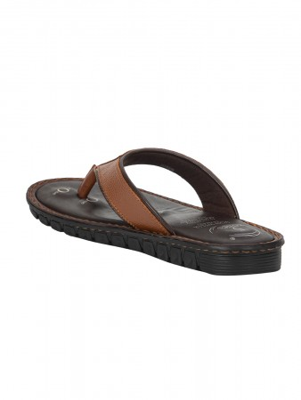 VON WELLX ELMER COMFORT TAN SLIPPERS