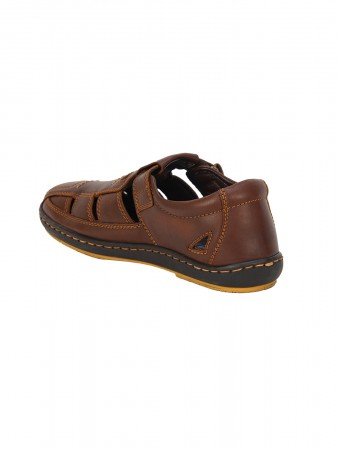 VON WELLX GERMANY COMFORT BROWN CANTER SANDALS