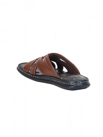 VON WELLX GERMANY COMFORT BROWN RIVEL SLIPPERS