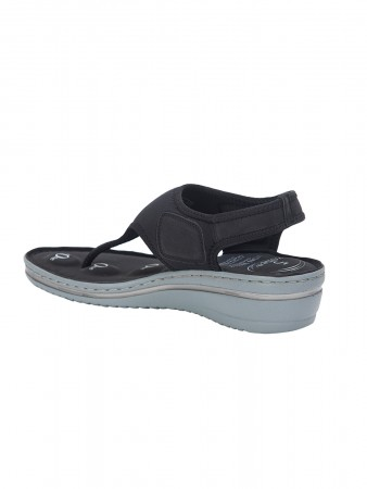 VON WELLX GERMANY COMFORT DELLA BLACK SANDALS
