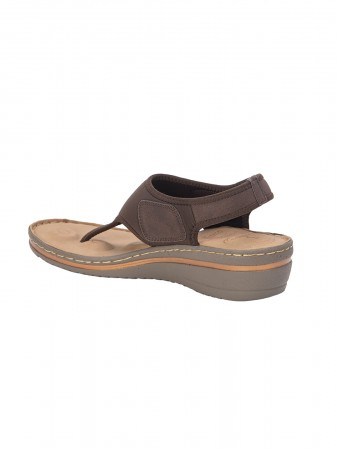 VON WELLX GERMANY COMFORT DELLA BROWN SANDALS