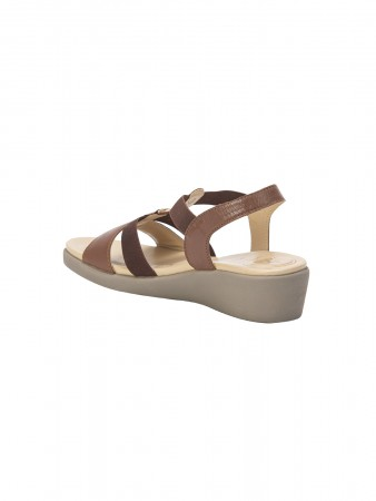 VON WELLX AMOS COMFORT TAN SANDALS