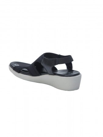 VON WELLX GERMANY COMFORT SHIRLEY BLACK SANDALS
