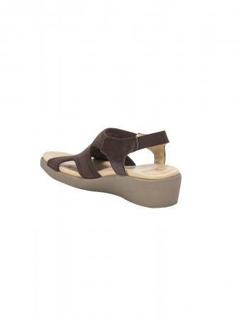 VON WELLX GERMANY COMFORT BROWN SHIRLEY SANDALS