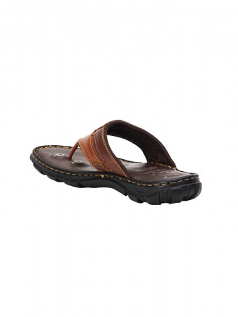 VON WELLX GERMANY COMFORT BROWN COLTON SLIPPERS