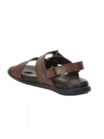 VON WELLX GERMANY COMFORT BROWN OWEN SANDALS