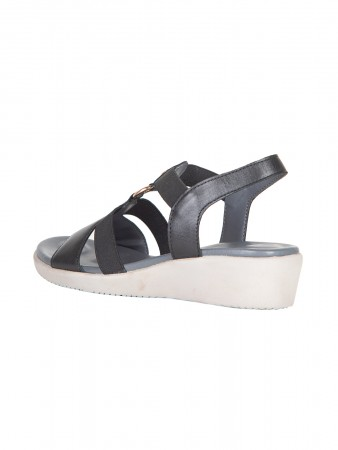 VON WELLX AMOS COMFORT BLACK SANDALS
