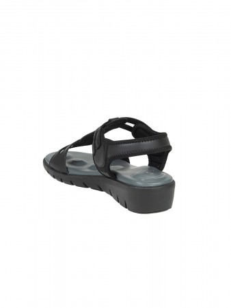 VON WELLX GERMANY COMFORT NOVA BLACK SANDALS