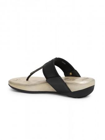 VON WELLX GERMANY comfort women's black slippers LENIA