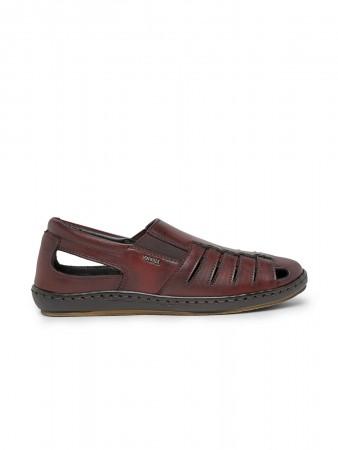 VON WELLX GERMANY comfort men's wine sandal MARCEL