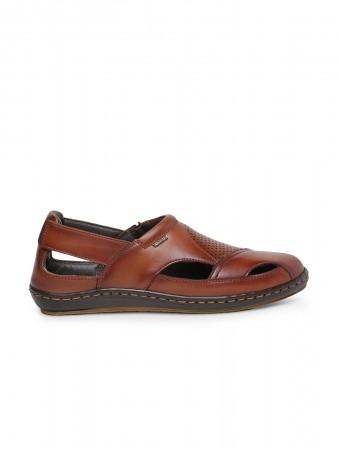 VON WELLX GERMANY comfort men's tan sandal EDDIE