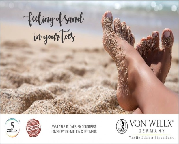 Feeling of sand in your toes