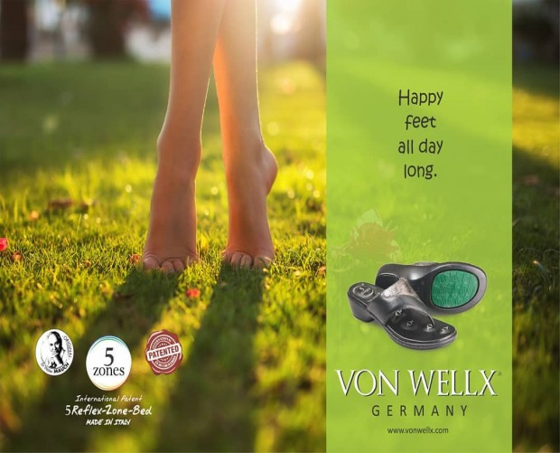 No matter how hard your toil, Von Wellx is here to give you happy feet all day long!