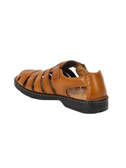 Buy Von Wellx Germany Comfort Melvil Tan Sandals Online in Ahmedabad
