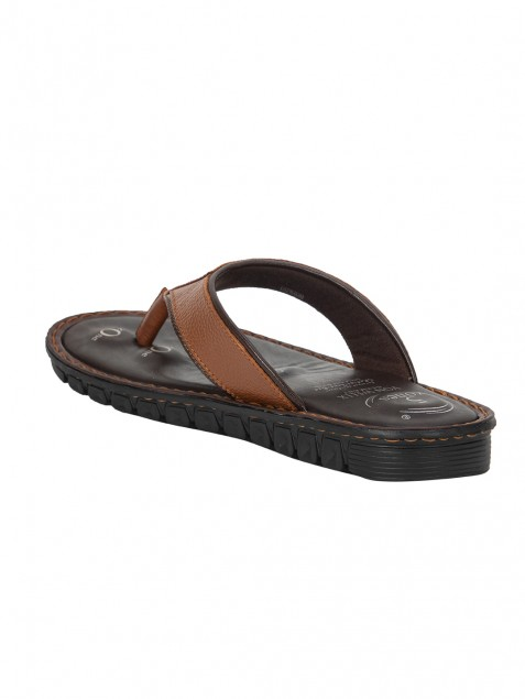 Buy Von Wellx Elmer Comfort Tan Slippers Online in Jaipur