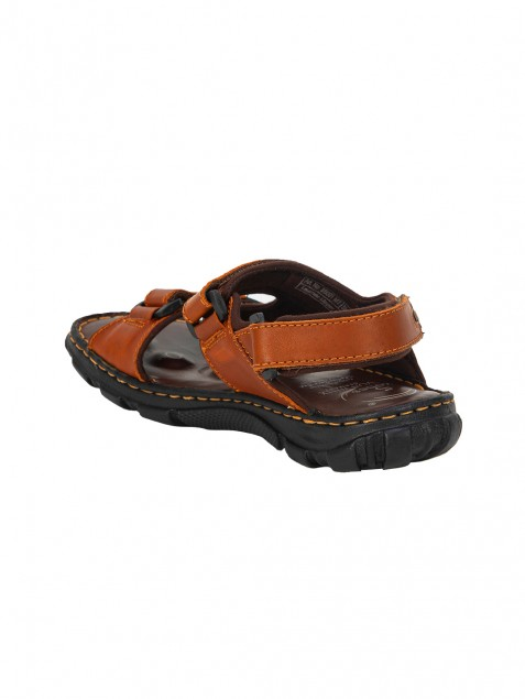 Buy Von Wellx Kozan Comfort Tan Sandals Online in Muscat