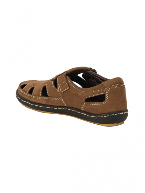 Buy Von Wellx Germany Comfort Tread Chikoo Sandals Online in Muscat