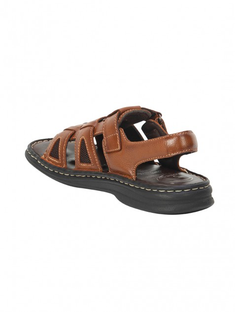 Buy Von Wellx Germany Comfort Rhys Tan Sandals Online in Ahmedabad