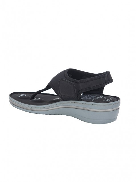 Buy Von Wellx Germany Comfort Della Black Sandals Online in Agra