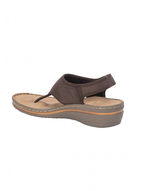 Buy Von Wellx Germany Comfort Della Brown Sandals Online in Rajasthan