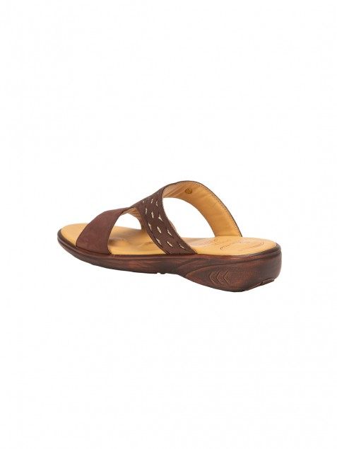 Buy Von Wellx Thea Comfort Brown Slippers Online in Doha