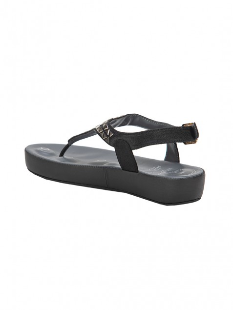 Buy Von Wellx Haven Comfort Black Sandal Online in Agra