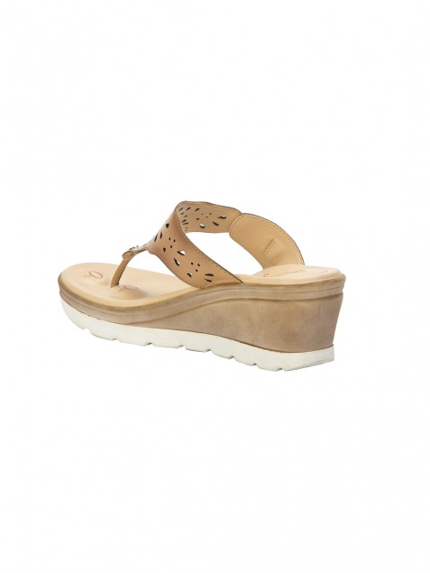 Buy VON WELLX GERMANY COMFORT ELLA BEIGE SLIPPERS In Delhi
