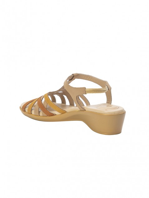 Buy VON WELLX CHLOE COMFORT BEIGE SANDAL In Delhi