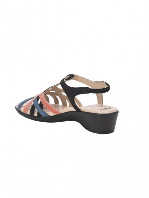 Buy Von Wellx Chloe Comfort Black Sandal Online in Agra
