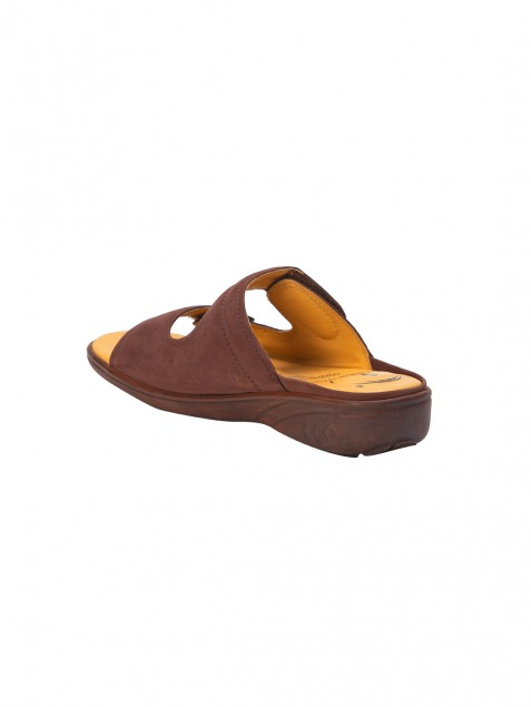 Buy Von Wellx Germany Comfort Zora Brown Slides Online in Sharjah