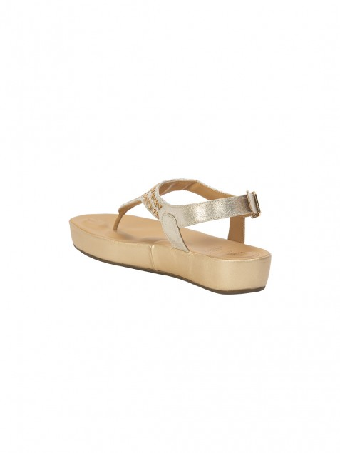 Buy Von Wellx Germany Comfort Haven Golden Sandals Online in Sri Lanka