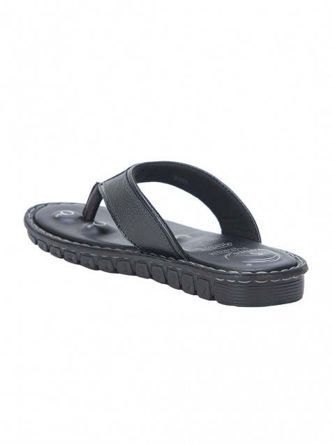 Buy VON WELLX ELMER COMFORT BLACK SLIPPERS In Delhi