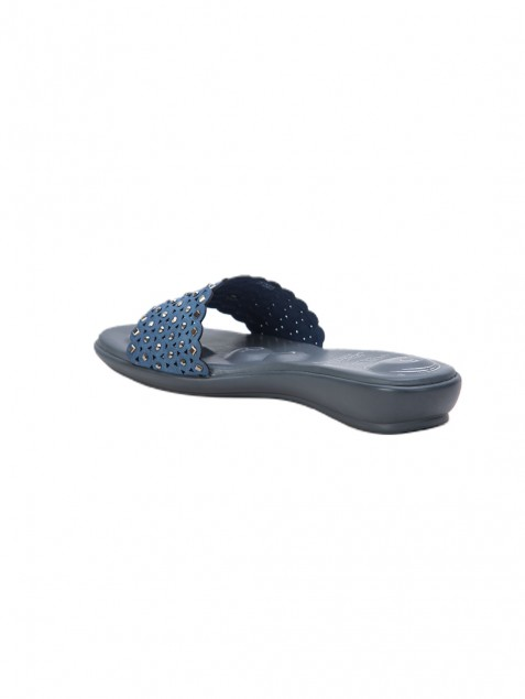 Buy Von Wellx Germany Comfort Vivre Blue Slippers Online in Lucknow