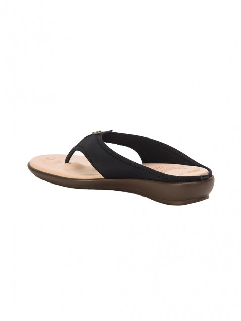 Buy Von Wellx Joanna Comfort Black Slippers Online in Tiruchirappalli