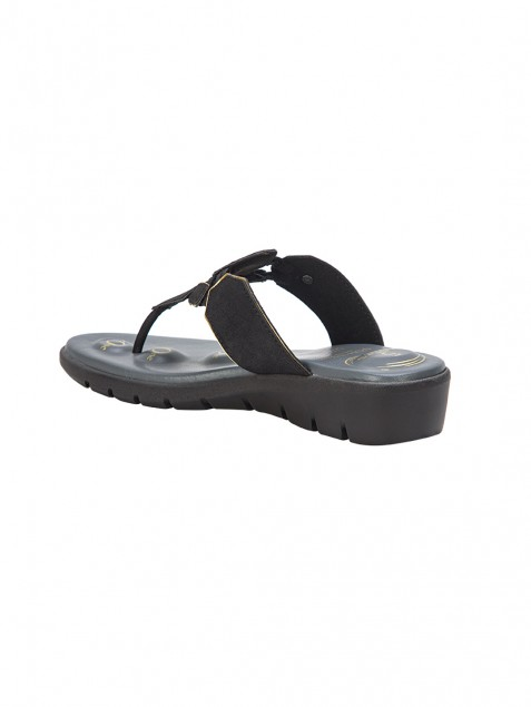 Buy Von Wellx Germany Comfort Salive Black Slippers Online in Lucknow