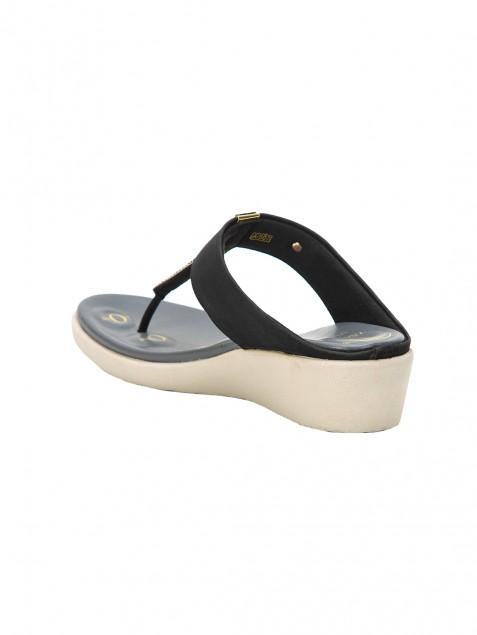 Buy Von Wellx Germany Comfort Silken Black Slippers Online in Dehradun