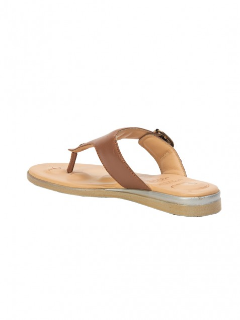 Buy Von Wellx Germany Comfort Daisy Thong Brown Slippers Online in Agra