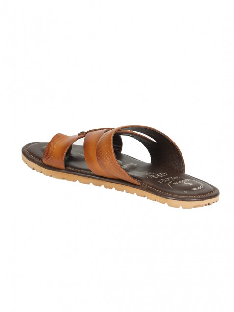 Buy Von Wellx Germanycomfort Tan Elijah Slippers Online in Bihar