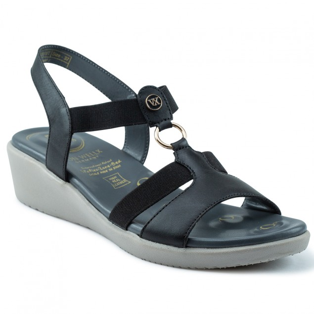 Buy Von Wellx Amos Comfort Black Sandals Online in Ranchi