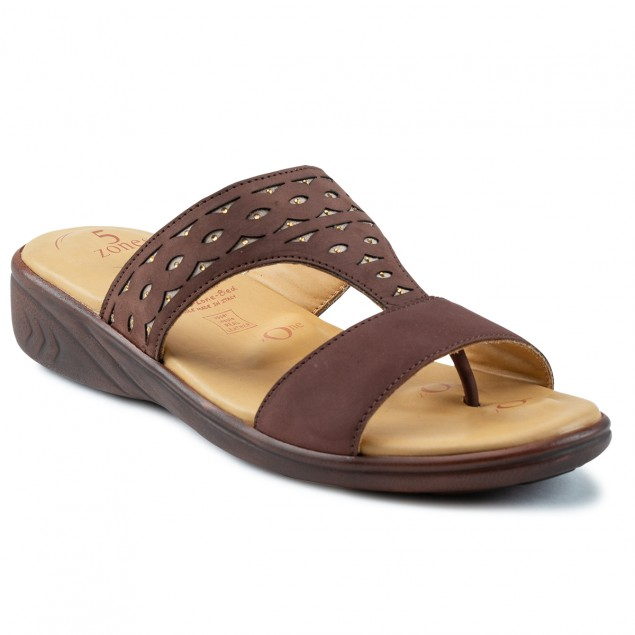 Buy Von Wellx Thea Comfort Brown Slippers Online in Indore