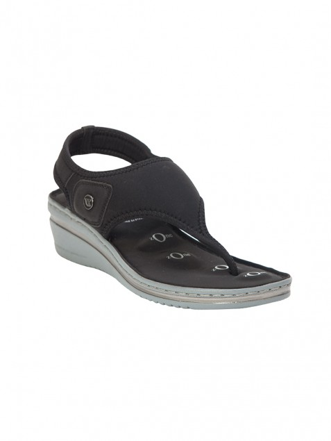 Buy Von Wellx Germany Comfort Della Black Sandals Online in Ranchi
