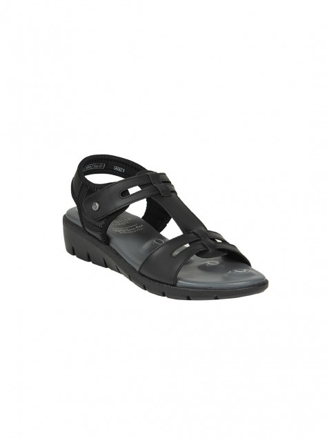Buy Von Wellx Germany Comfort Nova Black Sandals Online in Ludhiana